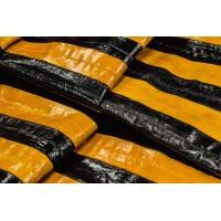 Кожа экзотическая Угорь (желтый, черный, полосы)